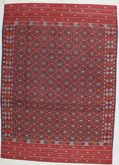 Red Kilim Rug #333 • 6′7″ x 9′4″ • 100% Wool