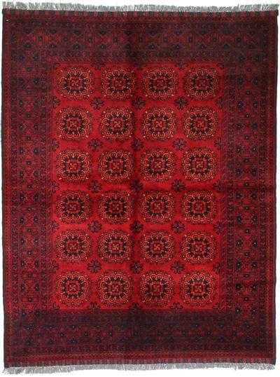 Red Kunduz Rug #1493 • 5′1″ x 6′5″ • 100% Wool
