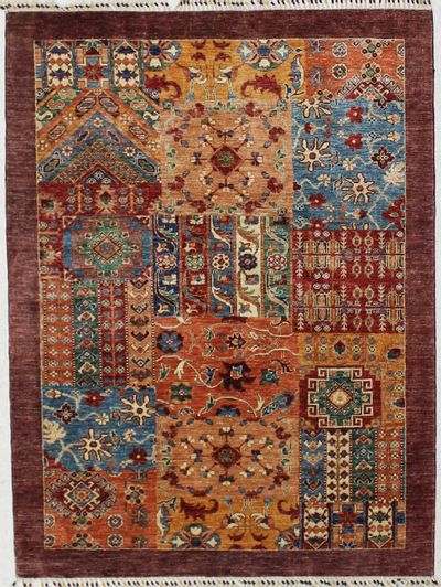Multicolor Patchwork Rug #2429 • 5′0″ x 6′8″ • 100% Wool