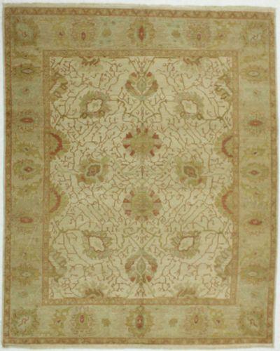 Ivory Karaman Rug #518 • 7′11″ x 10′1″ • 100% Wool