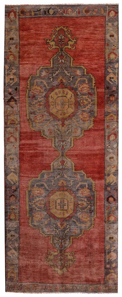 Red Konya Rug #2729 • 4′11″ x 11′11″ • 100% Wool