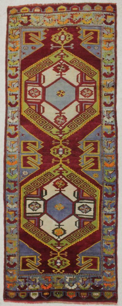 Red Konya Rug #8536 • 4′2″ x 10′11″ • Wool on Cotton