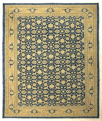 Blue Ushak Rug #7662 • 8′10″ x 10′9″ • 100% Wool