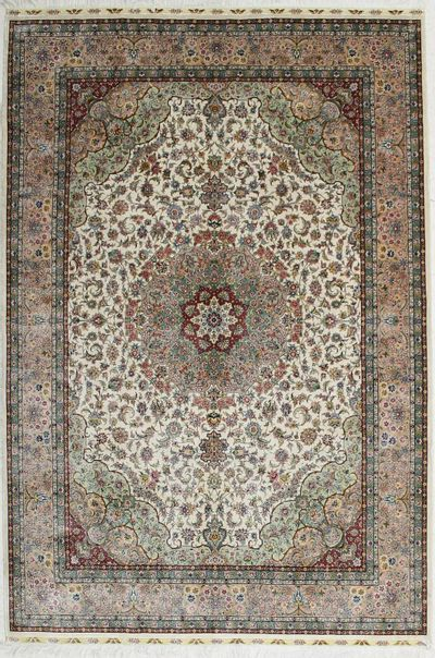 Ivory Nanyak Rug #2834 • 5′8″ x 8′4″ • 100% Silk