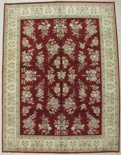 Red Royal Rug #8492 • 9′1″ x 12′2″ • Wool on Silk
