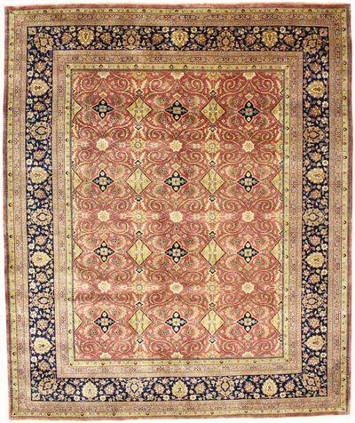 PINK Tabriz Rug #2326 • 8′2″ x 9′9″ • 100% Wool