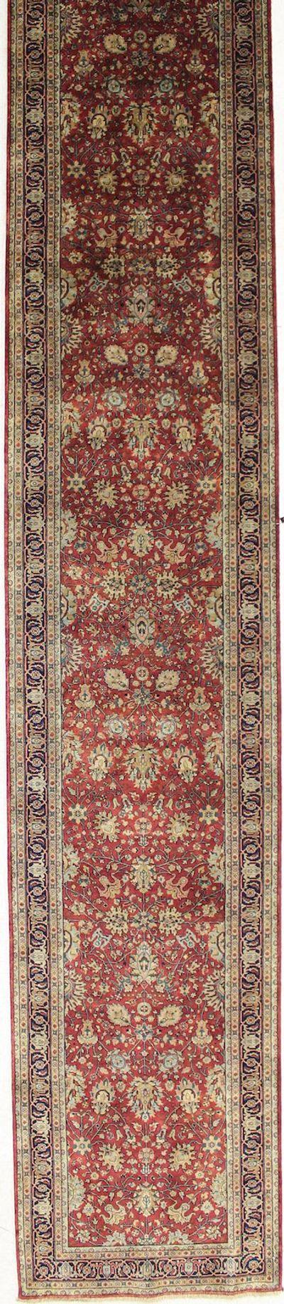 BURGUNDY Tabriz Rug #2346 • 3′2″ x 19′1″ • 100% Wool