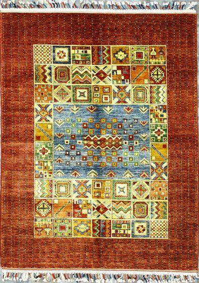 Multicolor Gordes Rug #8393 • 5′0″ x 6′5″ • Wool on Cotton