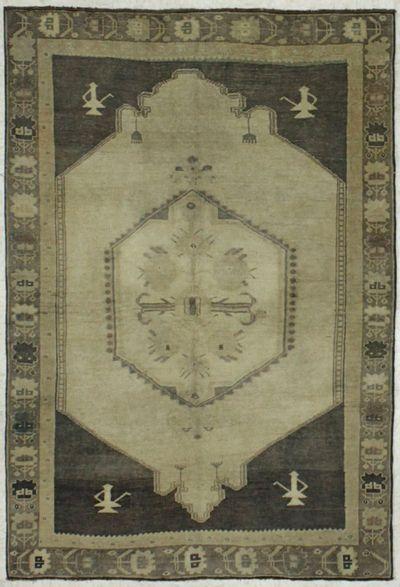 Ivory Konya Rug #7974 • 3′6″ x 5′4″ • 100% Wool