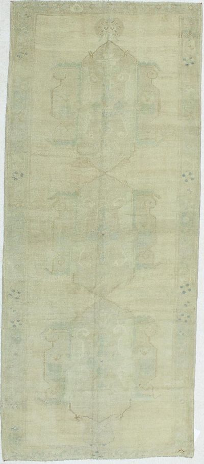 Ivory Konya Rug #975 • 4′9″ x 11′5″ • 100% Wool