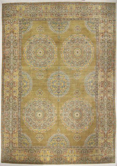 Gold Ushak Rug #6621 • 16′11″ x 24′5″ • 100% Wool