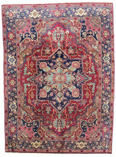 Red Heriz Rug #1593 • 6′2″ x 8′5″ • Wool on Cotton