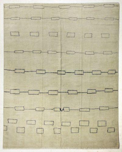 Ivory Modern Rug #7776 • 8′0″ x 10′0″ • 100% Wool