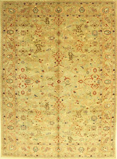 Ivory Sivas Rug #570 • 10′4″ x 14′0″ • 100% Wool