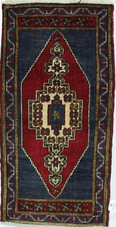 Red Konya Rug #908 • 1′10″ x 3′7″ • 100% Wool