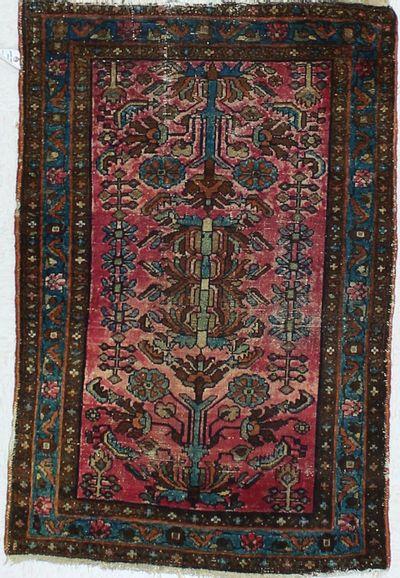Purple SAROUK Rug #739 • 3′1″ x 4′8″ • Wool on Cotton