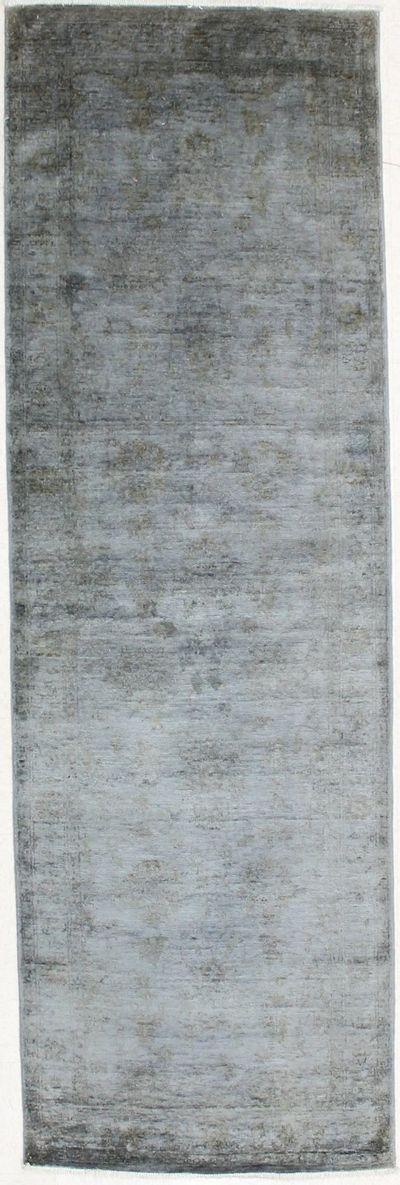 Gray Contemporary Rug #2798 • 3′3″ x 10′1″ • 100% Silk