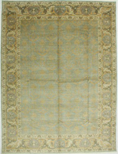 Light Blue Sivas Rug #586 • 9′0″ x 11′11″ • 100% Wool