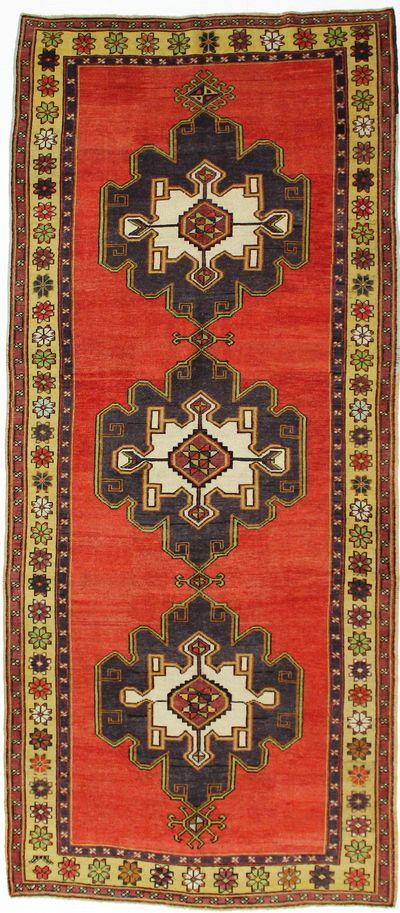 Red Konya Rug #8010 • 5′0″ x 11′7″ • 100% Wool