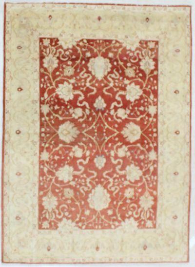 Red Karaman Rug #662 • 4′11″ x 6′10″ • Wool on Cotton