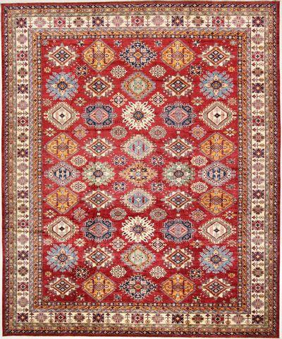 Red Kazak Rug #2171 • 13′8″ x 16′6″ • 100% Wool