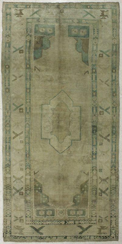 Ivory Konya Rug #7973 • 5′4″ x 11′2″ • 100% Wool