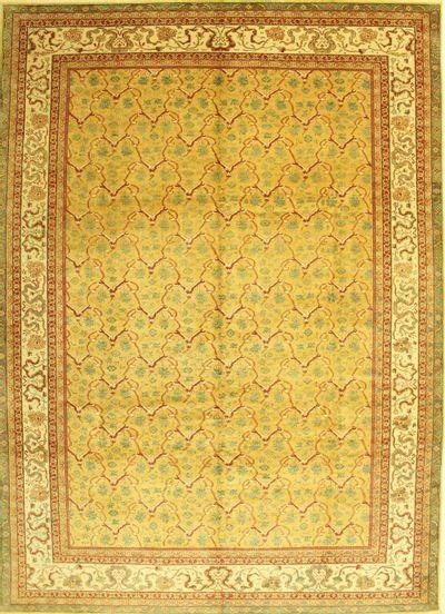 Gold Sivas Rug #592 • 10′2″ x 14′0″ • 100% Wool