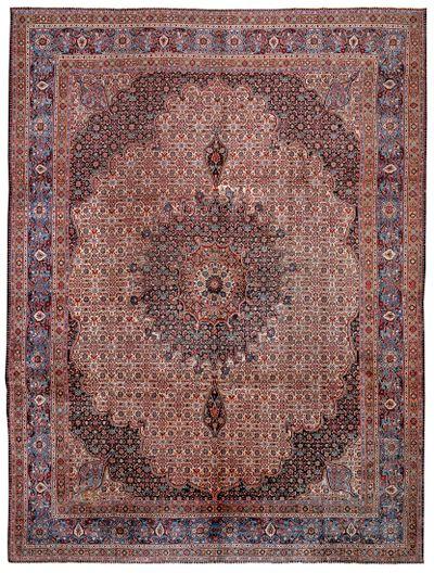 Ivory Tabriz Rug #8411 • 10′3″ x 13′4″ • 100% Wool