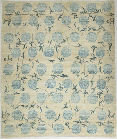 Ivory BAMIYAN Rug #6580 • 8′0″ x 9′6″ • 100% Wool