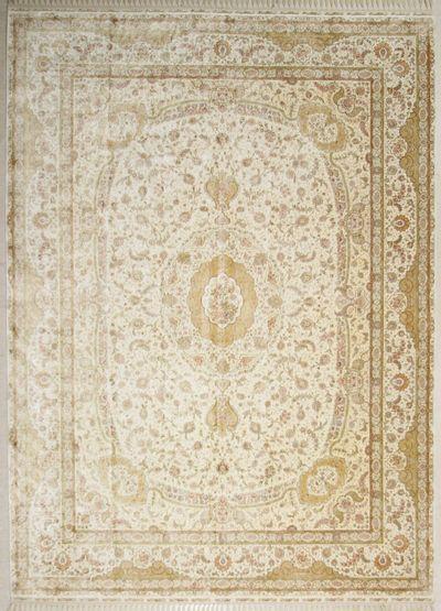 Ivory Cezaevi Rug #7479 • 10′2″ x 14′2″ • 100% Silk