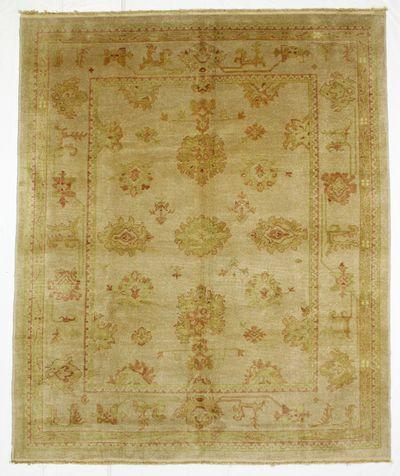 Ivory Ushak Rug #8515 • 8′2″ x 10′0″ • Wool on Cotton