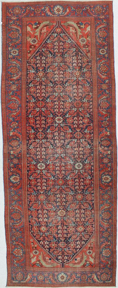 Red Farahan Rug #211 • 5′1″ x 13′1″ • Wool on Cotton