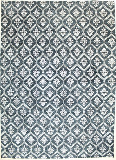 Gray Contemporary Rug #7281 • 10′1″ x 14′0″ • Wool on Cotton