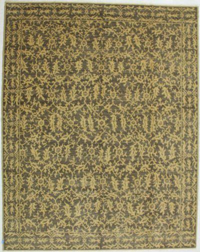 Brown Gordes Rug #521 • 8′11″ x 11′3″ • 100% Wool