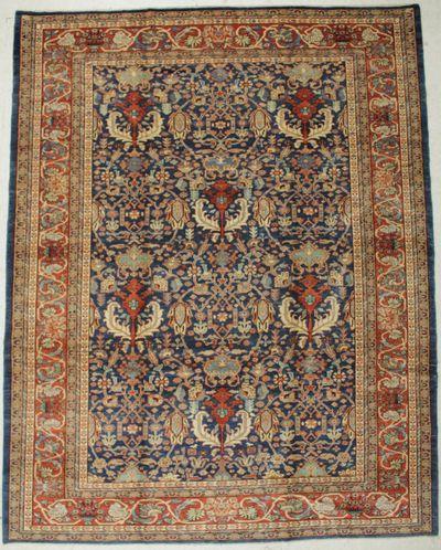 NAVY HERATI Rug #8430 • 9′4″ x 12′0″ • 100% Wool