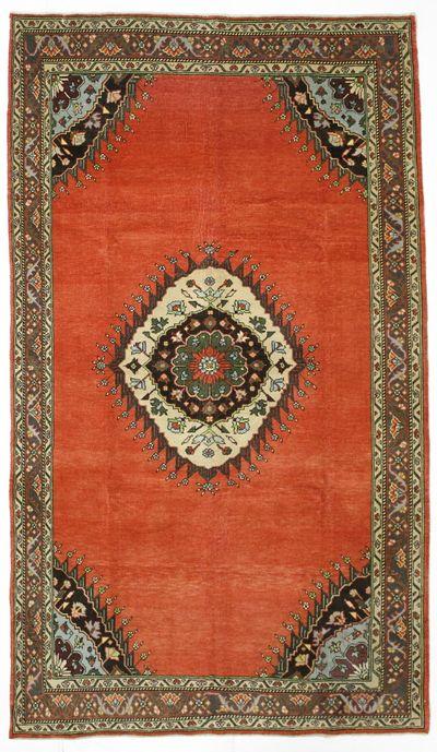 Red Konya Rug #999 • 6′5″ x 11′2″ • 100% Wool