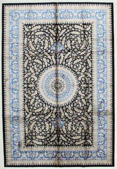 Black Cezaevi Rug #1813 • 6′2″ x 9′0″ • 100% Silk