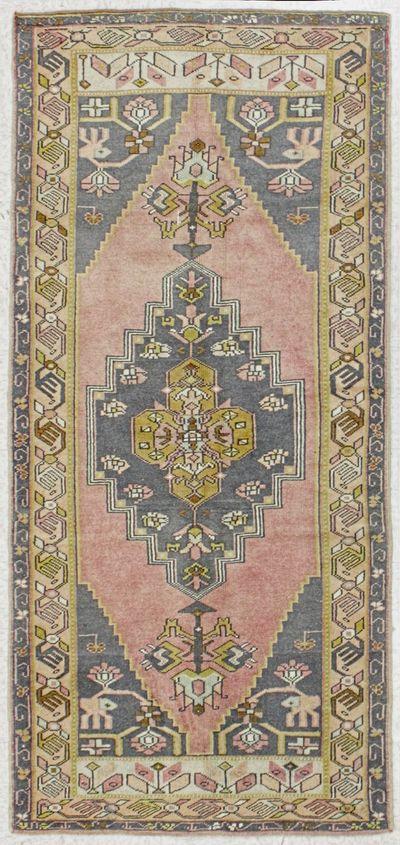 PINK Konya Rug #7926 • 3′5″ x 7′6″ • 100% Wool