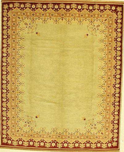 Ivory Ushak Rug #702 • 7′7″ x 9′3″ • 100% Wool