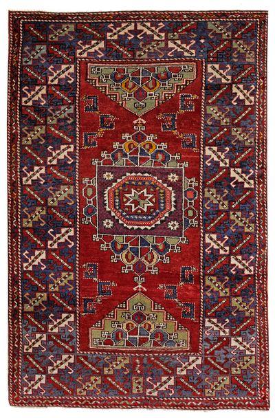 Red Konya Rug #508 • 5′0″ x 7′7″ • 100% Wool