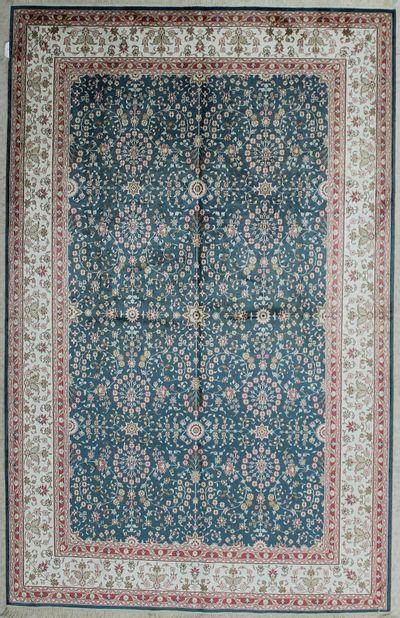 Light Blue IMZALI Rug #6984 • 5′0″ x 8′0″ • 100% Silk