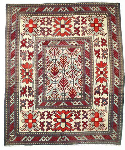 Red Kilim Rug #213 • 8′6″ x 10′2″ • 100% Wool