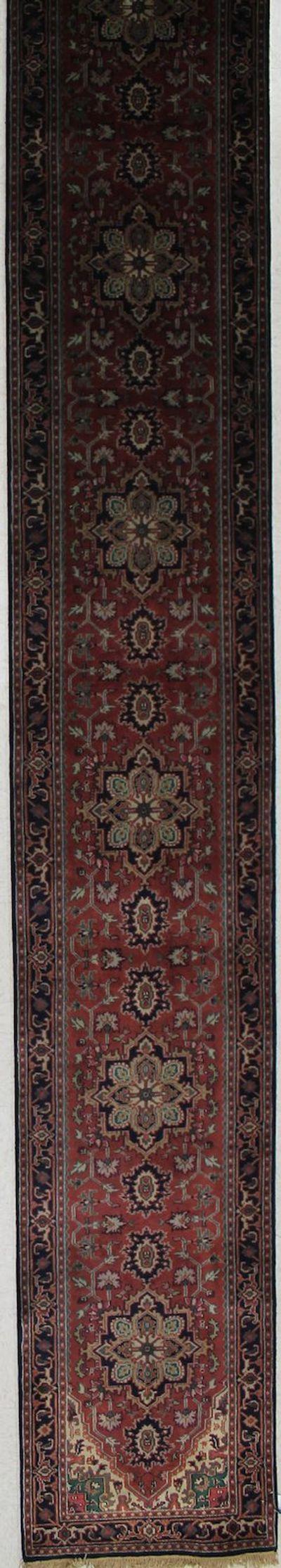 Rust Tabriz Rug #2348 • 2′7″ x 19′8″ • 100% Wool