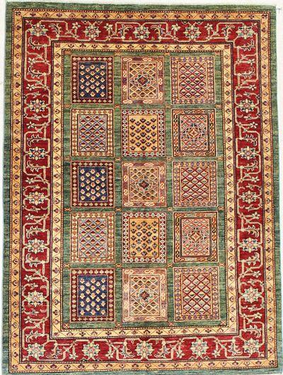 Multicolor Kazak Rug #7175 • 4′11″ x 6′8″ • 100% Wool