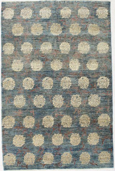 Ivory BAMIYAN Rug #2436 • 5′0″ x 8′0″ • 100% Wool