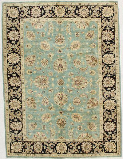 Light Blue Ushak Rug #1613 • 5′9″ x 7′10″ • 100% Wool