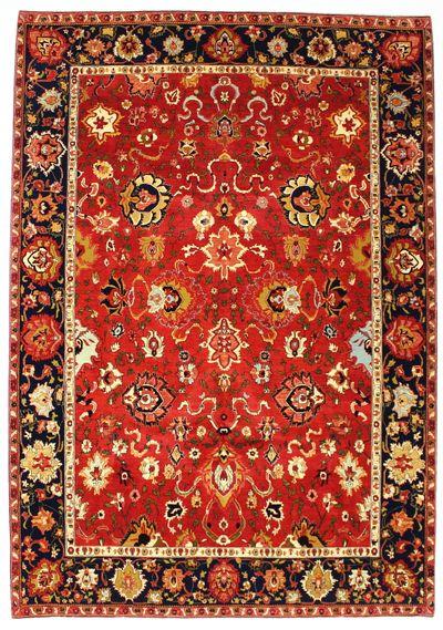 Red Ottoman Rug #8413 • 8′9″ x 12′6″ • 100% Wool